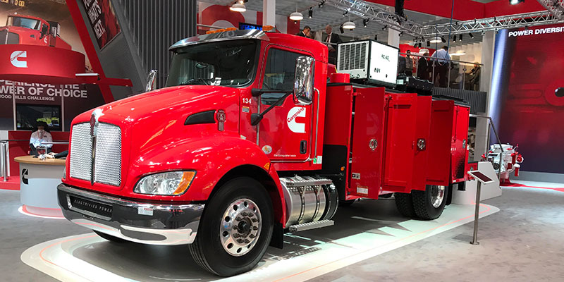 Kenworth T370 equipped with Cummins' PowerDrive electric.
