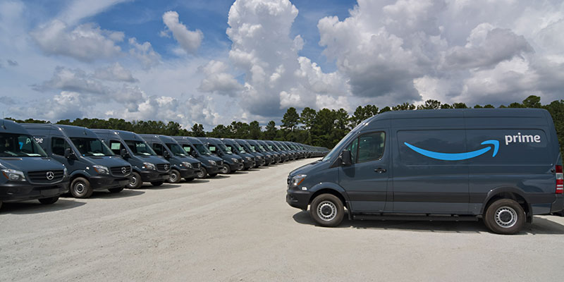 The Amazon-branded Sprinter vans are for the online retailer's new Delivery Service Partner program.