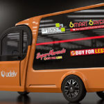 Northern California-based autonomous delivery van developer Udelv has sold 10 vehicles and exclusive Oklahoma dealership rights to an Oklahoma City chain of grocery stores, whose logos adorn this Udelv van.
