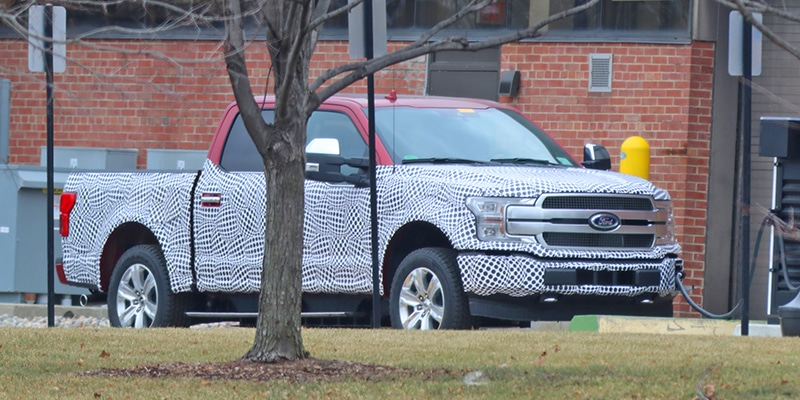 Spy Shots Ford Working On Electric F 150 Pickup Truck