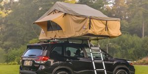 rooftop tent on subaru
