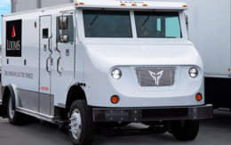 Xos electrified truck for Loomis Armored US