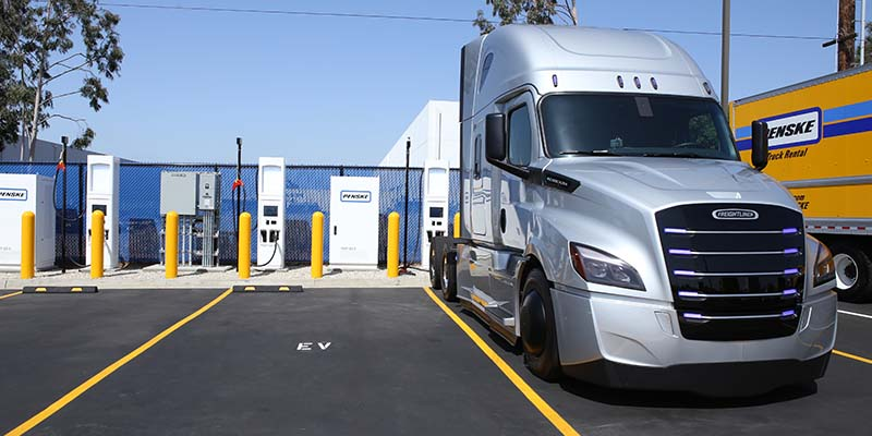 Excellent Act Expo Penske Adds Fast Chargers For More Electric Trucks Wiring Digital Resources Talizslowmaporg