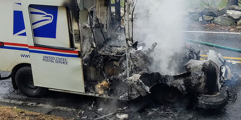 safety experts alarmed by mail trucks bursting into flames