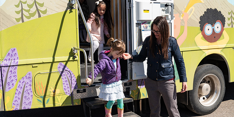 Winnebago mobile preschool battery-electric