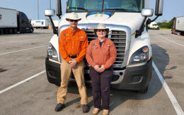 Stephen Halsted and Sandy Goche, truck drivers