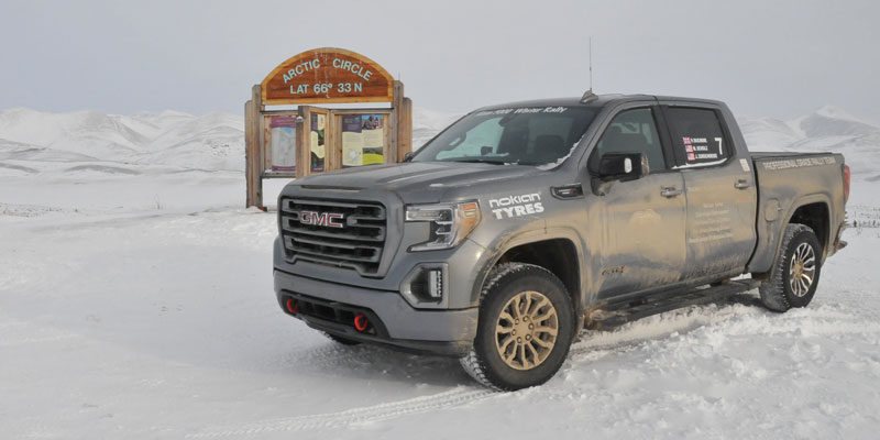 GMC Sierra at Arctic Circle